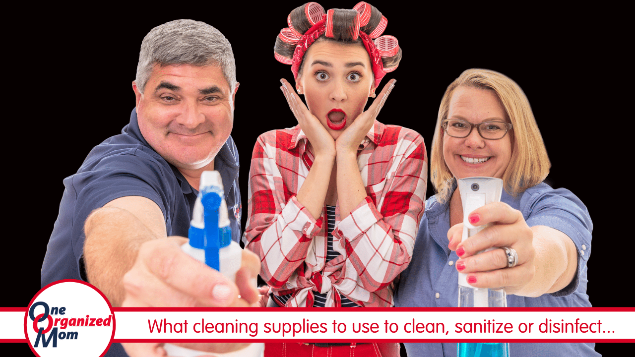 Disinfect Your Home - cleaning supplies to use